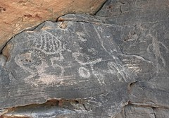 Petroglyphs / Mill Creek Canyon (Ron Wolf) Tags: anthropology archaeology fremont nativeamerican anthromorph anthropomorph circle panel petroglyph rockart utah
