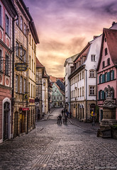 Bamberg- Germany (hasan.bryiez) Tags: germany night light sunlight bildings yallow europe deutschland street blue sunset travel house architecture cityscape christian church towr bavaria old sky