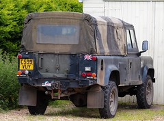 C599 VUY (2) (Nivek.Old.Gold) Tags: 1985 land rover 110 softtop 2500cc diesel army