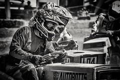 Downscaled British Motorsport- lawn mower racing (Andy J Newman) Tags: motorsport lawnmower race racing nikon d500 silverefex blackandwhite