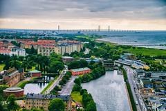 Malmö view (Maria Eklind) Tags: view kitchentable refletion bridge malmölive himmel spegling city utsikt abarwithaview clouds malmö water sky öresundsbron clarionhotel skybar sweden buildings skånelän sverige se