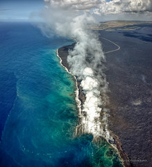 Surf and Turf (Traylor Photography) Tags: hilo landscape magma nature puuoo lavavent kilauea lava bigisland hawaii hot pāhoa unitedstates us