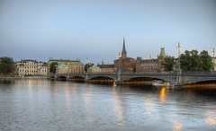 one of the bridges in Stockholm (neilalderney123) Tags: ©2017neilhoward sweden stockholm olympus bridge water landscape
