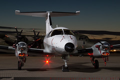 105/YU - Embraer 121 Xingu AA [121105] - French Air Force / EAT 00.319 - EGWU / RAF Northolt - 1 June 2017 (Leezpics) Tags: embraer xingu egwu 1june2017 nightphotography transportaircraft emb121 105 northolt frenchairforce