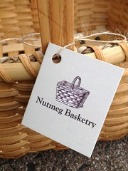 Tag Closeup (Nutmegbasketry) Tags: nutmegbasketry baskettag tag logo handmade handwoven baskets