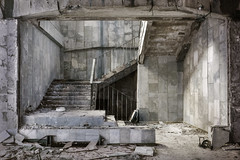 Take the stairs, Pripyat (Sean Hartwell Photography) Tags: stairs stair abandoned architecture decay deserted desolation ruins concrete urbex urban pripyat chernobyl ukraine ussr nuclear powerstation disaster derelict radiation radioactive fallout 1986