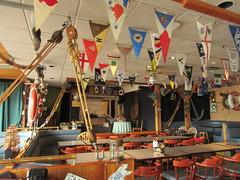 Hanging pennants (jamica1) Tags: protection island nanaimo bc british columbia canada dinghy dock pub
