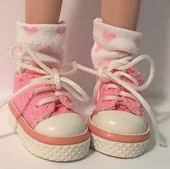 Little Pink Hearts For You And Me...Short Socks For Blythe...