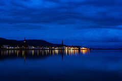 Softly Softly (Brian Travelling) Tags: night bluehour clouds sky water firthofclyde largs largsharbour largsbay northayrshire scotland reflection reflections blue pentaxkr pentax pentaxdal