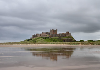 Bamburgh Castle and beach