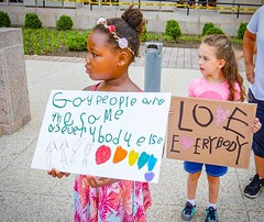 The voices of the future are the best ones. I ❤️ this century. #activetransportation @equalitymarch17 ️🌈🌎
