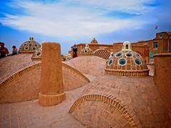The roof domes of Sultan Amir Ahmad Bathhouse, Kashan, Iran (CamelKW) Tags: 2017 iran isfahan kashan rooftop domes sultanamirahmadbathhouse