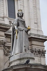 DSC_4350 City of London St Paul's Cathedral Churchyard Statue of Queen Anne 1886 sculpture of Anne Queen of Great Britain by sculptors Richard Claude Belt and L. A. Malempré after Francis Bird's original 1712 sculpture (photographer695) Tags: city london st pauls cathedral churchyard statue queen anne 1886 sculpture great britain by sculptors richard claude belt l a malempré after francis birds original 1712