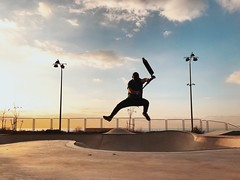 Jumping Leisure Activity Full Length Mid-air Skill  One Person Real People Sky Lifestyles Sunset Cloud - Sky Sport Vitality Outdoors Motion Exercising Day Men Skateboard Park Energetic Shotoniphone7plus מייאייפון7 IPhone7Plus The Street Photographer - 201 (dinalfs) Tags: jumping leisureactivity fulllength midair skill oneperson realpeople sky lifestyles sunset cloudsky sport vitality outdoors motion exercising day men skateboardpark energetic shotoniphone7plus מייאייפון7 iphone7plus thestreetphotographer2017eyeemawards מייסקייט