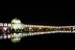 Isfahan, Iran (gstads) Tags: iran iranian persia persian isfahan esfahan ngc square night reflection naqshejahansquare naqshejahan imamsquare dome architecture reflectingpool pond light lights
