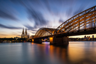 Nach Sonnenuntergang in Köln