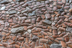Cobblestone made from old roof tiles (Pejasar) Tags: tile stone cobblestone antigua guatemala