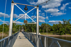 Granite Falls Historic Pedestrian Bridge - Granite Falls, Minnesota (Tony Webster) Tags: granitefalls minnesota minnesotariver bridge footbridge footpath historic pedestrianbridge unitedstates us wmc1830