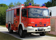 Feuerwehr Mercedes Atego Rosenbauer Appliance (PFB-999) Tags: german germany fire and rescue brigade feuewehr mercedes atego 4x4 appliance engine truck vehicle unit rotators beacons grilles strobes lip6032 day 2017