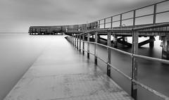 Kastrup Sea bath (brechtvhb) Tags: landscape sea water reflection beach travel light ocean bridge pier seascape seashore copenhagen cph fujifilm formatthitech longexposure nd kastrup