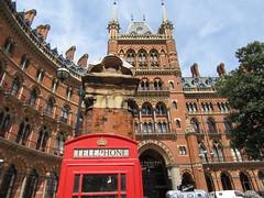 St Pancras Hotel (bikerchick2009) Tags: st pancras station hotel london old building red brick city england