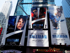 Valerian and the City of a Thousand Planets Billboard Poster 8182 (Brechtbug) Tags: valerian city thousand planets billboard poster times square nyc 2017 french science fiction comics series from 1967 valérian laureline written by pierre christin illustrated jeanclaude mézières film movie directed luc besson new york 07012017