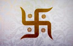 IMG_50140 (Manveer Jarosz) Tags: bharat hindu hindustan indian rajasthan card decorated holy invitation svastika swastika symbol wedding