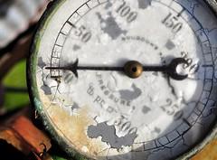 Broken (holly hop) Tags: macro macromonday broken antique pressuregauge gauges texture arrow old peelingpaint sedge808sfaves