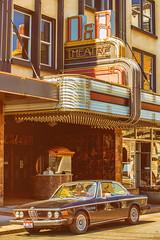 D&R Theatre (Thomas Hawk) Tags: aberdeen america bmw bmw30cs bmwe9 drtheatre e9 scottjordan usa unitedstates unitedstatesofamerica washington washingtonstate auto automobile car classiccar neon theater us fav10 fav25