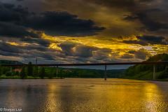 Ångermannabron (johan.bergenstrahle) Tags: 2017 finepics bridge bro evening hdr kväll landscape landskap river solnedgång sunset sverige sweden älv