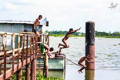 IMG_7376 (arifulkabirahmed1) Tags: children naked swimming river joy childhood poor