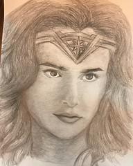 Wonder Woman drawing. (Legocreator75) Tags: ares stevetrevor 2017 batman superman aquaman cyborg flash dccomics dc diana dianaprince wonderwoman justiceleague