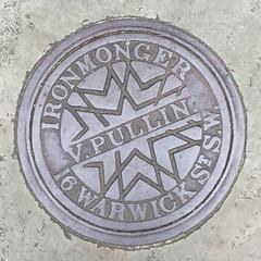 V. PULLIN COALPLATE WARWICK SQUARE PIMLICO (xxxxheyjoexxxx) Tags: coalplate coal plate iron shute vintage cover opercula plates coalplates lid lettering foundry london pimlico