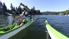 Working on the Paddle Stroke (Kayaker Bill) Tags: oc1 willametteriver hukioutriggercanoe oregon portlandoregon paddling watersports pacificnorthwest puakeapaddle hukivr1