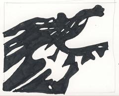 2016.03.28 Enter the Dragon (Julia L. Kay) Tags: shadow shadows silhouette juliakay julialkay julia kay artist artista artiste künstler art kunst peinture dessin arte woman female sanfrancisco san francisco daily everyday 365 botanical botany plant foliage splitleaf philodendron splitleafphilodendron sundances ink paper brush pen brushpen bw black white monochrome