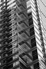 Geomeomeometry (nfatkhi) Tags: reflection geometry skyscraper phila bnw tower