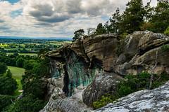 The awful precipice (EYeardley) Tags: rockface rocks cliffs landscape shropshire hawkstonepark views beautiful theawfulprecipice cloudysky cloudformations clouds sunshine summer countryside englishcountryside