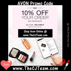 Avon Coupon Code (cjteamonline) Tags: avon avoncouponcodes cjteam couponcodes finalday freeavon freeshipping goingfast lastday limitedquantities limitedtime newavoncouponcode onedayonly onetimeuse onlinepromotion orderavononline ordertoday promotion sale thecjteam today welcome10 whilesupplieslast