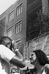 Burger Fest (CarusoPhoto) Tags: john caruso pentax ks2 smc pentaxda 35mm f24 al smcpentaxda35mmf24al chicago il street black white blackandwhite bw monochromatic fest festival candid