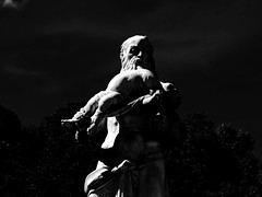 Garden Schloss Nymphenburg, Munich (Miranda Ruiter) Tags: blackandwhite photography statue sculpture schloss castle nymphenburg garden art shadows