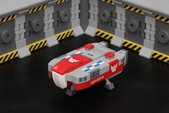 Type-6 Transporter (pasukaru76) Tags: canon100mm lego space microscale elite elitedangerous hangar type6 type6transporter lakon lakonspaceways moc