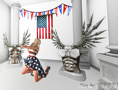 God Help America (Poppys_Second_Life) Tags: wings angels warrior naturism patriot patriotism glorydays popi popikone popikonesadventuresin2l popisadventuresin2l 2l secondlife virtualphotography poppy picsbyⓟⓞⓟⓟⓨ sl stars stripes flag usa starspangledbanner america independenceday july4th celebration celebrating