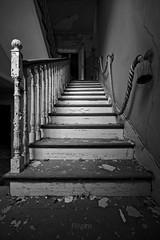 Upstairs (f@gra) Tags: sombras shadows light luz sony sigma abandono abandoned spain galicia urbex door puerta escalera stairs abandonedspain indoor interiordesign interiorismo upstairs