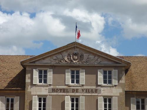 Rue Maurice Emmanuel, Beaune - Hotel de Ville - sign