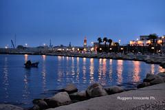 Ora blu a Bari (baridue) Tags: orablu bluhour bari lungomare weareinpuglia weareinbari city colori colour