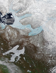 Lakes and Rivers Have Ice, Too (NASA's Marshall Space Flight Center) Tags: nasa marshall space flight center msfc goddard gsfc earth terra modis moderate resolution imaging spectroradiometer