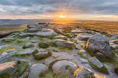 Stanage Edge (Steve-P2010) Tags: stanageedge sunset peakdistrict intothesun starburst sunstar evening