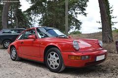 Porsche 911 Carrera 2 964 (Monde-Auto Passion Photos) Tags: voiture vehicule auto automobile porsche 911 carrera coupé rouge sportive ancienne rare rareté collection france fontainebleau