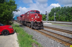 CP 8918 (Fan-T) Tags: clouds red cp 8918 q166 canadian pacific berea ohio ge