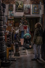 La Gomería (karinavera) Tags: travel sonya7r2 view city street night buenosaires store argentina tire fix people gomería